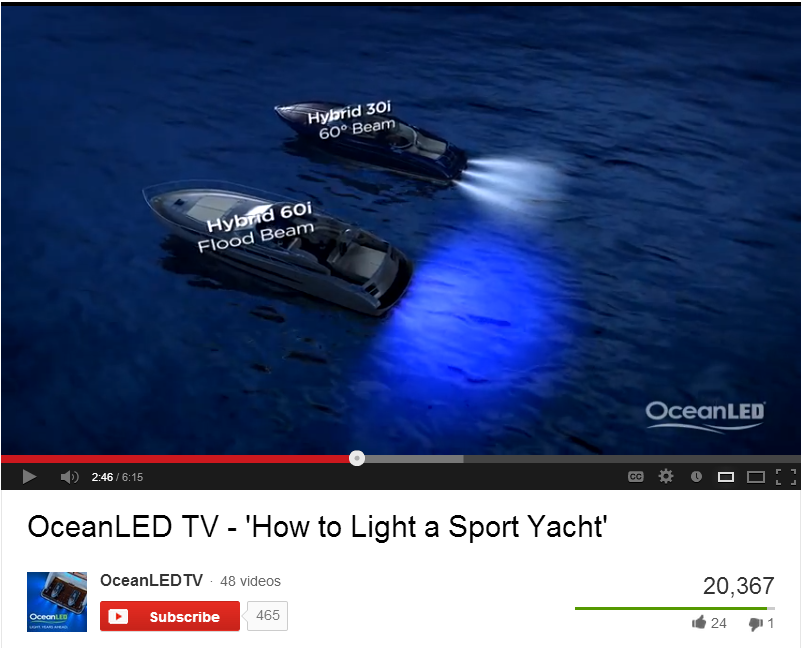 Underwater Yacht Lighting and The Beautiful Marine Color Effects Offered